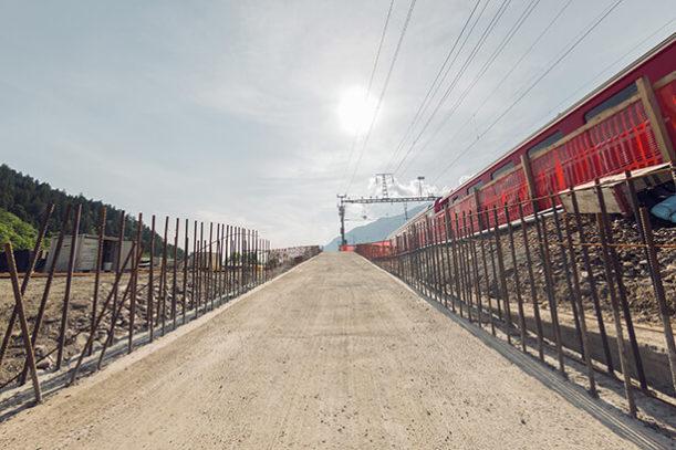 RhB Ausbau Bahnhof, Ilanz