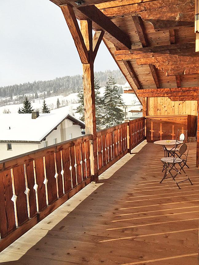 Balkon Winter